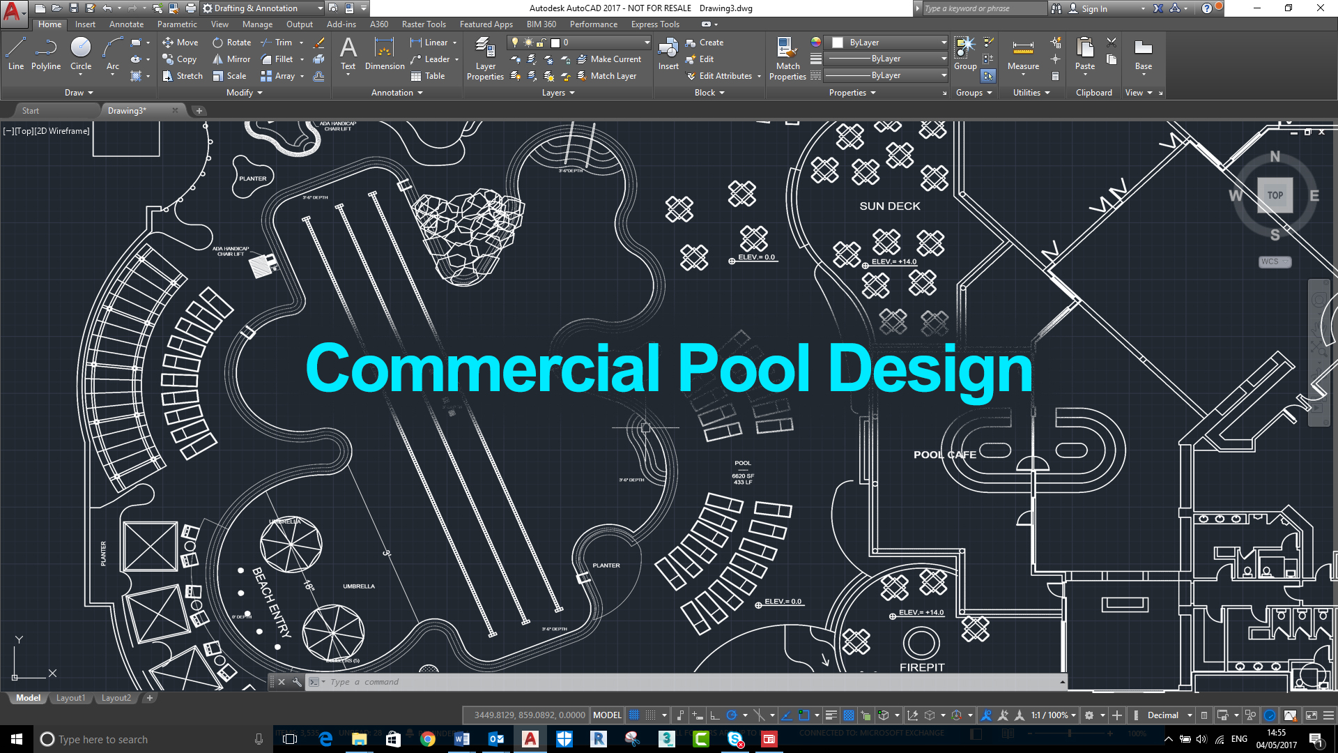 Commercial pool design and construction pinnacle usa inc for Pool design and construction